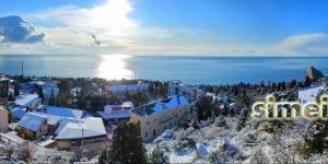Панорама Симеиза зимой