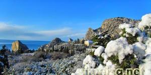 Симеиз зимой: снег