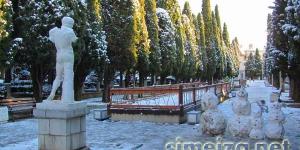 Снежная зима в Симеизе