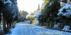 Улицы Симеиза в снегу