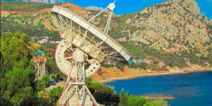Радиотелескоп на улицах Симеиза