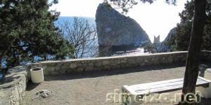 Вид на скалу Дива со смотровой площадки
