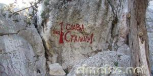 Наскальные надписи в Симеизе