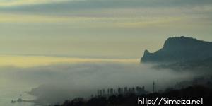 Гора Кошка в тумане