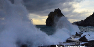 Удар морской стихии в Симеизе