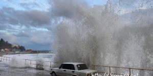 Развлечение во время шторма в Симеизе