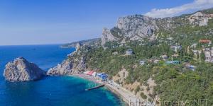 Пляж и скалы Симеиза