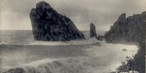 Скала Монах перед обрушением