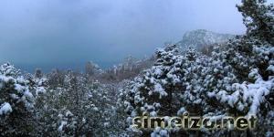 Симеиз снегопад