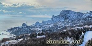 Симеиз в снегу под солнцем