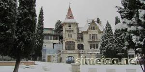 Вилла Ксения в снегу