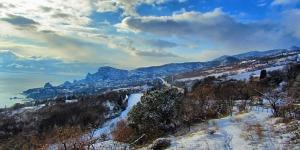 Симеиз зима снег