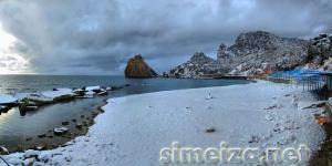 Симеиз: пляж зимой
