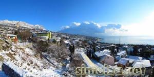 Симеиз зимой: панорама