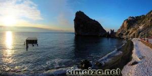 Рассвет в Симеизе зимой