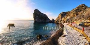 Пляж Симеиза зимой