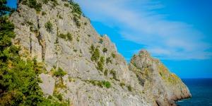 Скала Панеа в Симеизе: отвестные скалы