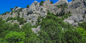 Гора Кошка, неприступные скалы