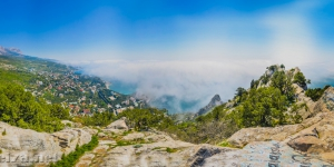 Панорама Симеиза с горы Кошка