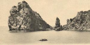 Скала Монах и Дива в начале XX века