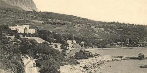 Вид на пансион А.Дольника в Симеизе