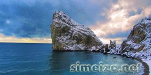 Фото скалы Дива зимой