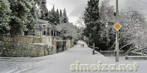 Снег на улицах Симеиза