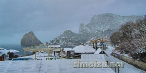 Набережная засыпанная снегом