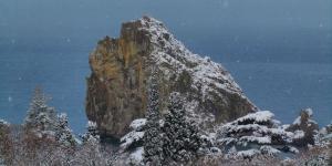 Зима в Симеизе: снег