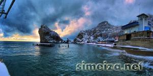 Симеиз - пляж зимой