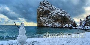 Симеиз: снеговик у моря